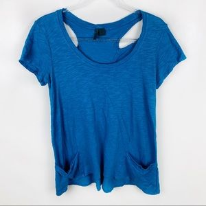 Left of Center Small Short Sleeve Blue Top